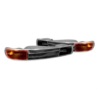 Spec-D® - Black Amber/Clear Factory Style Turn Signal/Parking Lights