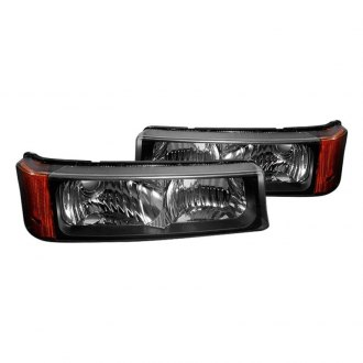 Spec-D® - Black Amber/Clear Crystal Turn Signal/Parking Lights