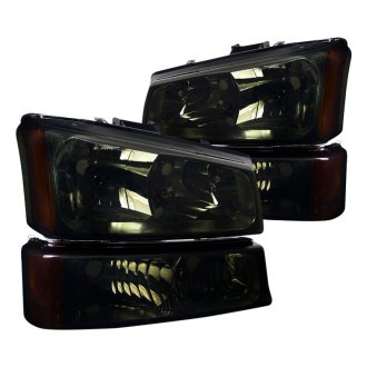 Spec-D® - Chrome/Smoke Euro Headlights with Bumper Lights