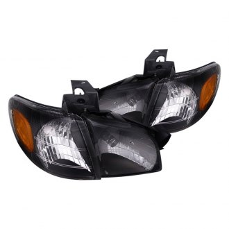 Spec-D® - Black Euro Headlights with Corner Lights