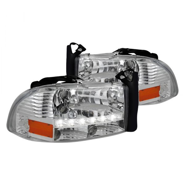 Spec-D® - Chrome Euro Headlights with LED DRL