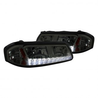 Spec-D® - Chrome/Smoke Euro Headlights with LED DRL
