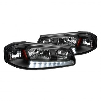 Spec-D® - Black Euro Headlights with LED DRL