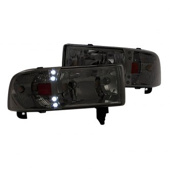 Spec-D® - Chrome/Smoke Euro Headlights with Parking LEDs