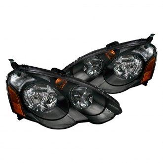 Acura RSX Custom Factory Headlights CARiDcom - 2002 acura rsx type s headlights