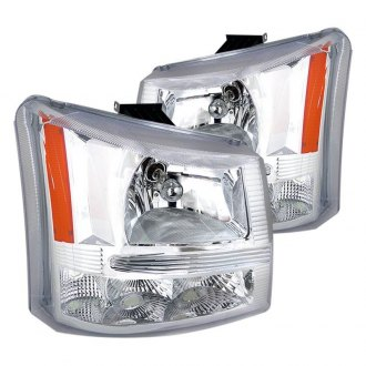 Spec-D® - Chrome Euro Headlights with Bumper Lights