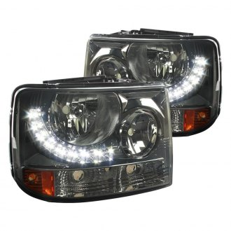 Spec-D® - Black/Smoke Conversion Euro Headlights with LEDs