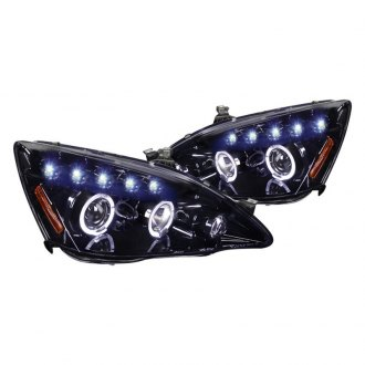 Spec-D® - Black/Smoke Dual Halo Projector Headlights with LED DRL