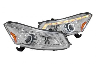 Spec-D® - Chrome Halo Projector Headlights with Switchback LED DRL