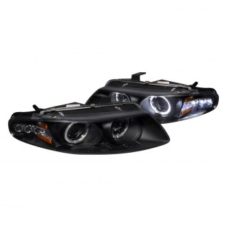 Spec-D® - Black Dual Halo Projector Headlights with LED Turn Signal