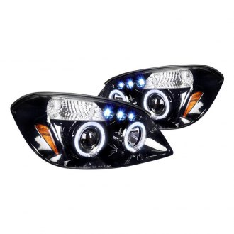 Spec-D® - Black/Smoke Dual Halo Projector Headlights with Parking LEDs