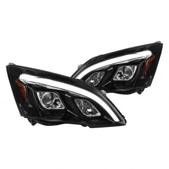 Spec-D® - Glossy Black DRL Bar Projector LED Headlights
