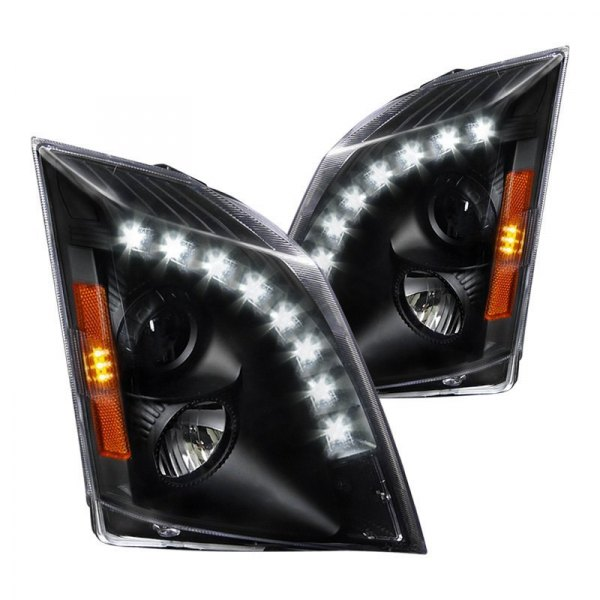 Spec-D® - Black Projector Headlights with LED DRL