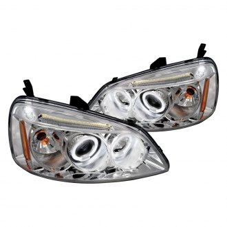 Spec-D® - Chrome Dual Halo Projector Headlights with Parking LEDs