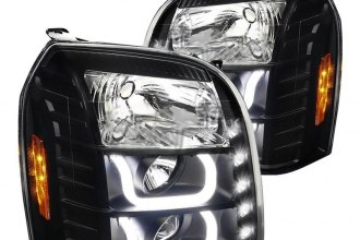 Spec-D® - Black U-Bar Projector Headlights with LED DRL