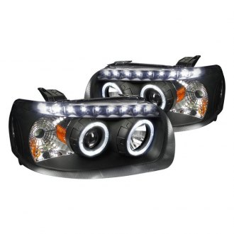 Spec D Black Dual Halo Projector Headlights With Led Drl