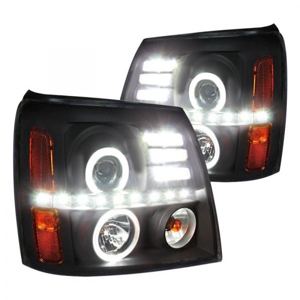 Fits 2003-2006 Cadillac Escalade Headlight HID Black Housing w//Clear Lens