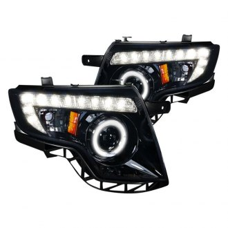 Spec-D® - Black/Smoke Halo Projector Headlights with LED DRL