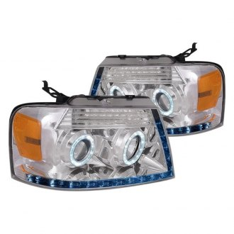 Spec-D® - Chrome Dual Halo Projector Headlights with R8 Style LEDs