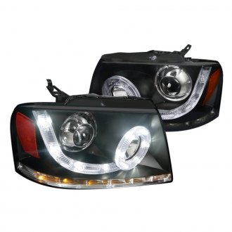 Spec-D® - Black Halo Projector Headlights with LED DRL