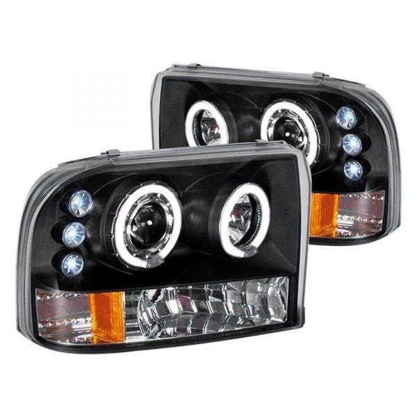 Spec-D Tuning 2LHP-F25099JM-TM Black Projector Headlight Halo Led