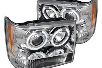Spec-D® - Chrome LED Dual Halo Projector Headlights