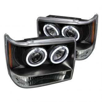 Spec-D® - Black LED Dual Halo Projector Headlights