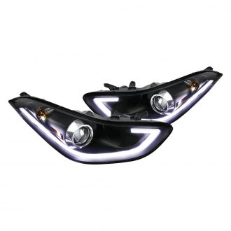 Spec-D® - Black LED DRL Bar Projector Headlights