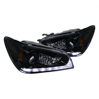 Spec-D® - Black/Smoke Projector LED Headlights with Switchback DRL