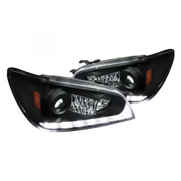 Spec-D® - Black Projector Headlights with Switchback LED DRL
