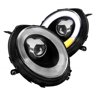 Spec-D® - Black DRL Bar Projector Headlights with LED Turn Signal