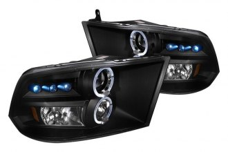 Spec-D® - Black Dual Halo Projector Headlights with Parking LEDs