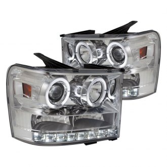 Spec-D® - Chrome Dual Halo Projector Headlights with LED DRL