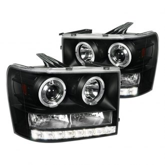 Spec-D® - Black Dual Halo Projector Headlights with LED DRL