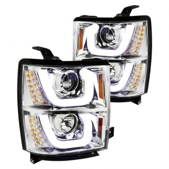 Spec-D® - Chrome DRL Bar Projector Headlights with LED Turn Signal