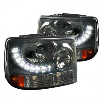 Spec-D® - Black/Smoke Conversion Projector Headlights with LED DRL