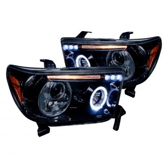 Spec-D® - Chrome/Smoke Halo Projector Headlights with Parking LEDs