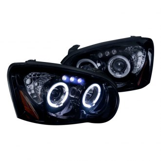 Spec-D® - Chrome/Smoke Dual Halo Projector Headlights with Parking LEDs