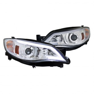 Spec-D® - Chrome LED DRL Bar Projector Headlights