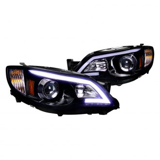 Spec-D® - Black/Smoke LED U-Bar Projector Headlights