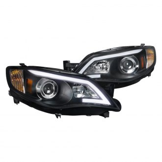 Spec-D® - Black LED U-Bar Projector Headlights