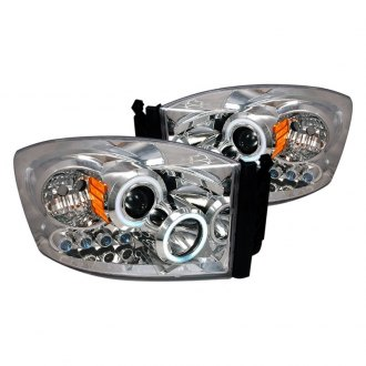 Spec-D® - Chrome CCFL Dual Halo Projector Headlights with Parking LEDs