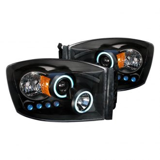 Spec-D® - Black CCFL Dual Halo Projector Headlights with Parking LEDs