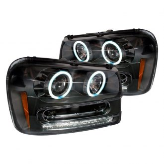 Spec-D® - Black CCFL Halo Projector Headlights with LED Turn Signal