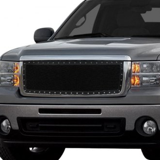 Spec-D® - 1-Pc Rivet Style Black Mesh Main Grille