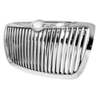 Spec-D® - 1-Pc Chrome Vertical Billet Main Grille