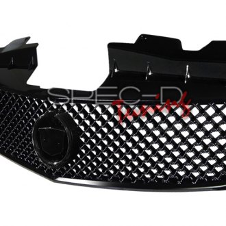 Spec-D® - 1-Pc Version 2 Matte Black Mesh Main Grille