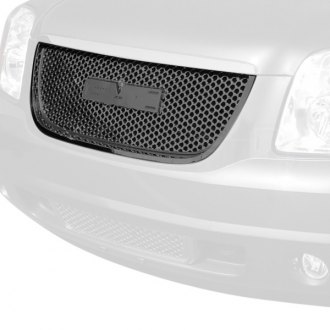 Spec-D® - Black Round Punch CNC Machined Main Grille