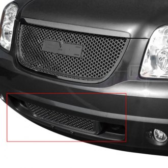 Spec-D® - Black Round Punch CNC Machined Bumper Grille
