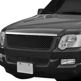 Spec-D® - 1-Pc Black Mesh Main Grille